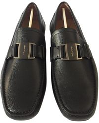 Ferragamo - Leather Flats - Lyst