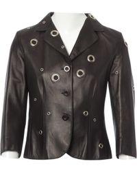 Moschino - Black Leather Jacket - Lyst