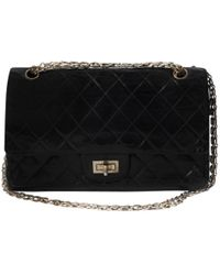fd6c5437e167 Chanel Pre-owned Wallet On Chain Leather Clutch Bag in Black - Lyst
