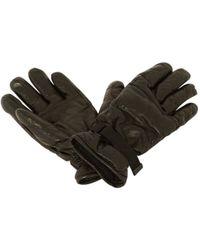 Moncler - Black Leather Gloves - Lyst