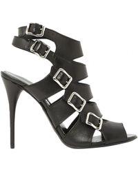 5aca52dbeda7 Lyst - Balmain Strappy Sandals in Black