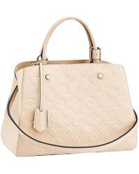 45dfb4c5d5a9 Louis Vuitton White Leather Handbag in White - Lyst