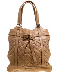 c99bd37e124c Lyst - Burberry Remington Leather Tote in Brown