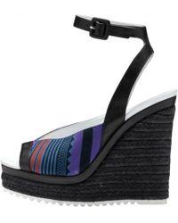 Hermès - Black Leather Sandals - Lyst