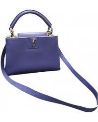 Louis Vuitton - Pre-owned Capucine Leather Handbag - Lyst