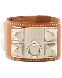 Hermès - Collier De Chien Brown Leather Bracelets - Lyst