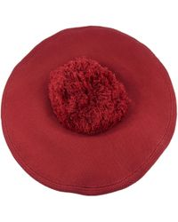 Sonia Rykiel - Red Cotton Hats - Lyst
