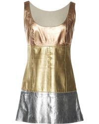 Chanel - Vintage Metallic Leather Top - Lyst