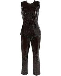 Michael Kors - Pre-owned Vintage Brown Leather Tops - Lyst