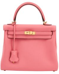 c2bc334a3e75 Lyst - Hermès Pre-owned Kelly Mini Leather Handbag in Pink