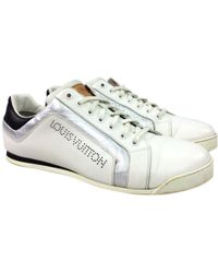 5fc973304b45 Lyst - Louis Vuitton Leather Low Trainers in White for Men