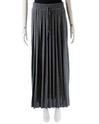 Max Mara - Grey Viscose Skirt - Lyst