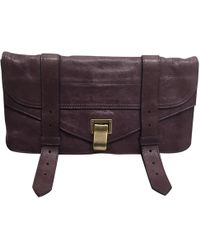 Proenza Schouler - Pre-owned Ps1 Purple Leather Clutch Bags - Lyst