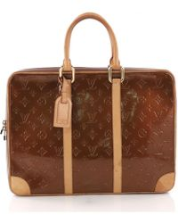 Louis Vuitton - Pre-owned Brown Patent Leather Handbags - Lyst