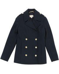Michael Kors - Pre-owned Blue Wool Coat - Lyst