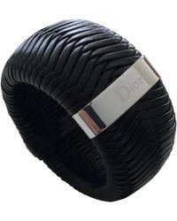 Dior - Pre-owned Black Leather Bracelets - Lyst