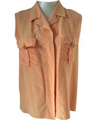 Chanel - Pre-owned Vintage Orange Silk Tops - Lyst