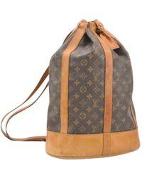 Louis Vuitton - Pre-owned Randonnée Cloth Handbag - Lyst