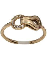 Cartier - Agrafe Pink Gold Ring - Lyst