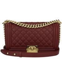 Chanel - Boy Leather Handbag - Lyst
