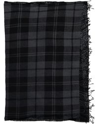 Balmain - Black Wool Scarves & Pocket Squares - Lyst
