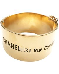 Chanel - Gold Gold Plated Bracelet - Lyst