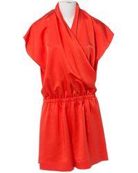 Lanvin - Orange Silk Jumpsuits - Lyst