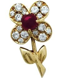 Van Cleef & Arpels - Yellow Gold Pin & Brooche - Lyst