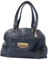 Lancel - Pre-owned Adjani Blue Leather Handbags - Lyst