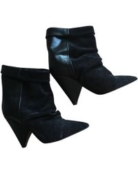 Isabel Marant - Luliana Black Leather Ankle Boots - Lyst