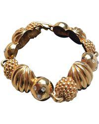 Lanvin - Gold Metal Bracelet - Lyst