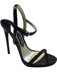 cc70dd44694 Lyst - Tom Ford Chain-link Leather Sandals Brown in Metallic