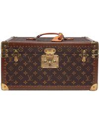Louis Vuitton - Pre-owned Petit Malle Cloth Vanity Case - Lyst