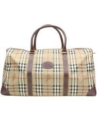 Burberry - Beige Suede Travel Bag - Lyst