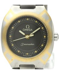 Omega Seamaster Grey Gold And Steel Watch - Gray