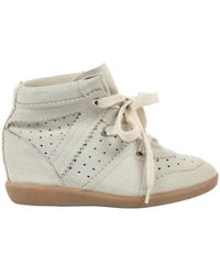db0fadf7599 Lyst - Isabel Marant Betty Wedge Sneakers in Natural