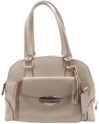 Lancel - Adjani Beige Leather Handbag - Lyst