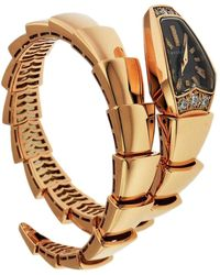 BVLGARI - Pink Gold Watch - Lyst
