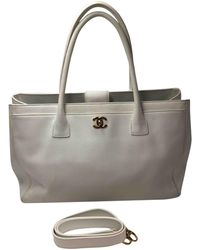 Chanel - Executive White Leather Handbag - Lyst