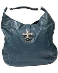 Givenchy - Obsedia Blue Leather Handbag - Lyst