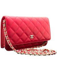 e1c861b3edd0 Chanel Pre-owned Camera Leather Crossbody Bag in Red - Lyst