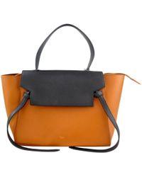 Céline - Belt Leather Handbag - Lyst