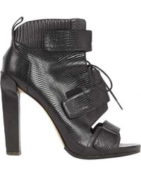 Alexander Wang - Black Leather Ankle Boots - Lyst