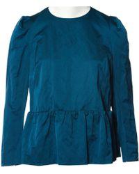 Dries Van Noten - Blue Cotton Top - Lyst