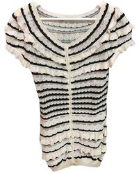 Dior - Pre-owned White Viscose Knitwear - Lyst