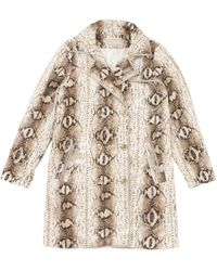 Michael Kors - Pre-owned Python Print Polyester Coat - Lyst