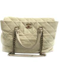 Chanel - Beige Leather Handbag - Lyst