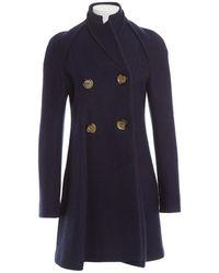Victoria Beckham - Wool Coat - Lyst