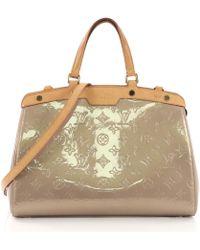 Louis Vuitton - Pre-owned Bréa Brown Patent Leather Handbags - Lyst