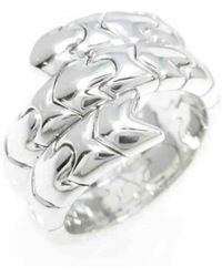 BVLGARI - Serpenti Silver White Gold Ring - Lyst